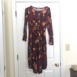 Floral Midi Dress by Reborn J